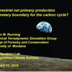 Is terrestrial net primary production a planetary boundary for the carbon cycle?