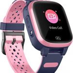 4G Smart Watch for Kids – GPS Smartwatch with Waterproof Real Time Position WIFI Vedio Call Message Pedometer Geo-Fence SOS Anti-Lost of Early Education Tools for Boys Girls (Pink)