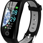 Tipmant Fitness Trackers, IP68 Waterproof Activity Tracker with 1.14 inch HD Screen Heart Rate Monitor Pedometer Step Counter Watch Sleep Monitor, Slim Smart Bracelet for Women Men Kids