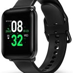 BlitzWolf Smart Watch, IP68 Waterproof Smartwatch, 1.3 inch HD Screen Activity Fitness Trackers with Heart Rate Monitor, Step Counter, Sleep Monitor, Pedometer Watch for Men Women for iPhone Android