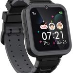 """Kids Smartwatch for Boys Girls Phone – 1.54"""" HD Touch Screen Smartwatch with Two Way Call SOS Flashlight Games Music Player Camera Alarm Clock as Students Children Birthday Gift 4-12Y (BLACK)"""