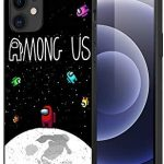 Among Us Phone Case Cover for iPhone, Among Us TPU Silicon Soft Dustproof Phone Case for iPhone 11/ iphone 12 Pro max (for iphone 12, D)