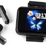 Smart Watch, 2 in 1 Fitness Tracker with TWS Wireless Bluetooth Earbuds, Men Women Smart Bracelet for Weather Heart Rate Blood Pressure Fitness Tracker, Earbuds Music Wristband (black)