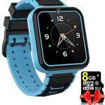 Kids Smart Watch Phone for Boys Girls Age 4-12 with 8GB Micro SD Card Two Way Call SOS 7 Games Music Player Camera 12/24 Clock Flashlight Silent Mode Touch Screen Watches Children Birthday Gift (Blue)