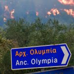Greek Villages Evacuated as Wildfires Threaten Ancient Sites